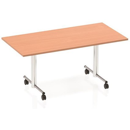 Sonix Rectangular Flip Top Table / 1600mm / Beech