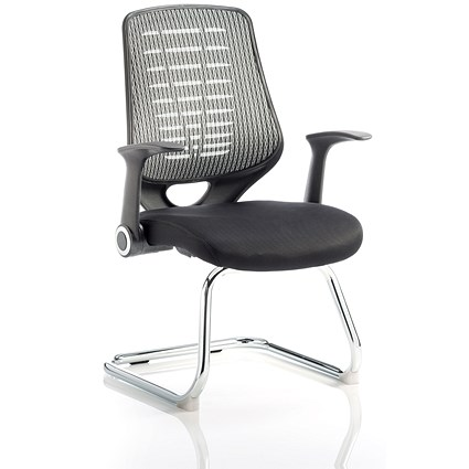 Sonix Relay Visitor Chair - Black & Silver