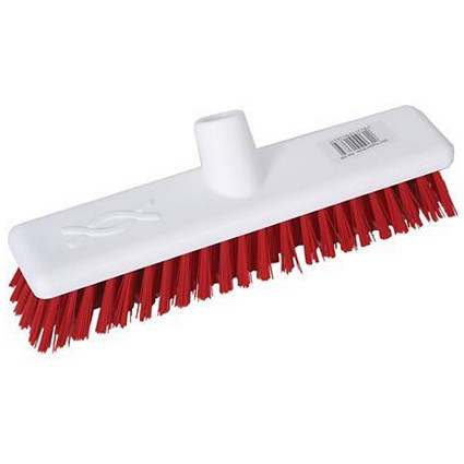 Robert Scott & Sons Abbey Hygiene 12inch Washable Hard Broom Head Red Ref 102903RED