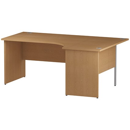 Trexus 1800mm Corner Desk, Right Hand, Panel Legs, Oak