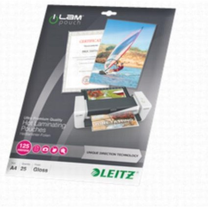 Leitz A4 Laminator Pouches / Medium / 250 Micron / Glossy / Pack of 25