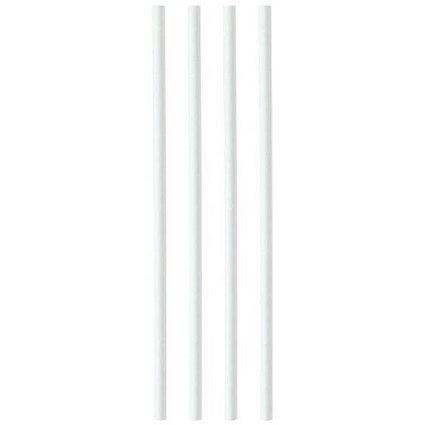 Plastico Paper Straws, 8mmx200mm, White, Pack of 250