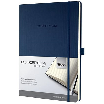 Sigel Concept Notebook, A4, Hardcover, 194 Pages, Blue