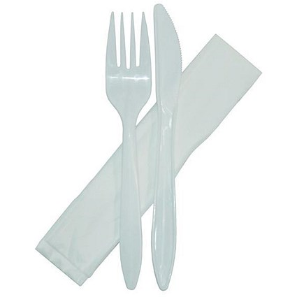 Plastic Forks, Knives and Napkins - Pack of 500