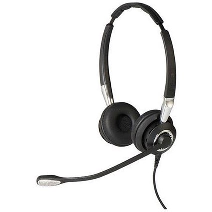 Jabra BIZ 2400 II Duo Headset with Noise-Cancelling Microphone Black/Grey Ref 2409-820-204