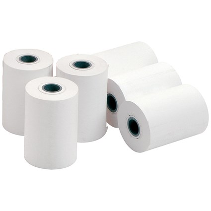 Chip 'n' Pin Thermal Printer Roll / 57x50x12.7mm / 58gsm / Pack of 20