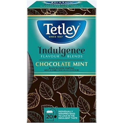 Tetley Indulgence Teabags / Chocolate Mint / String & Tag / 20 Bags