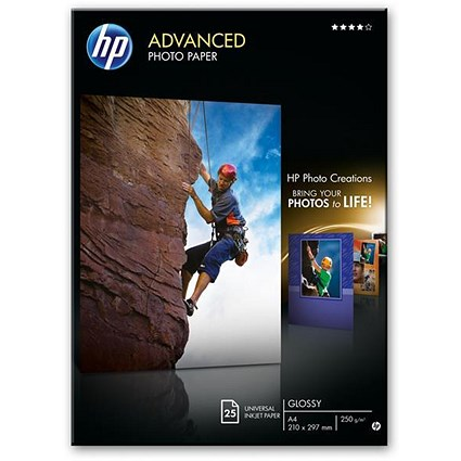 HP Advance Glossy Photo Paper / 130x180mm / 250gsm / Pack of 25