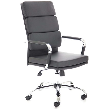 Adroit Advocate Executive Chair, Leather, Black