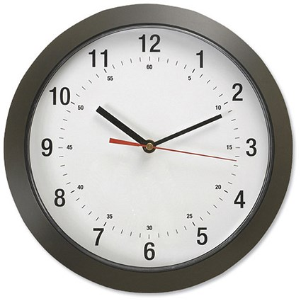 5 Star Wall Clock with Coloured Case Diameter 300mm Dark Grey