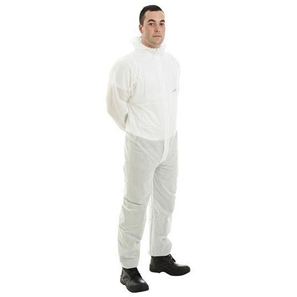 Supertouch Supertex SMS Coverall / 5/6 Protection / Medium / White