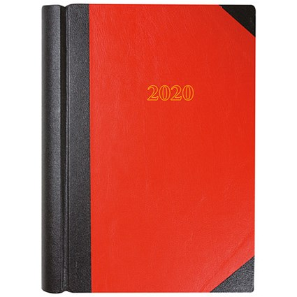 Collins 2020 Desk Diary, 2 Pages to a Day, A4, Red