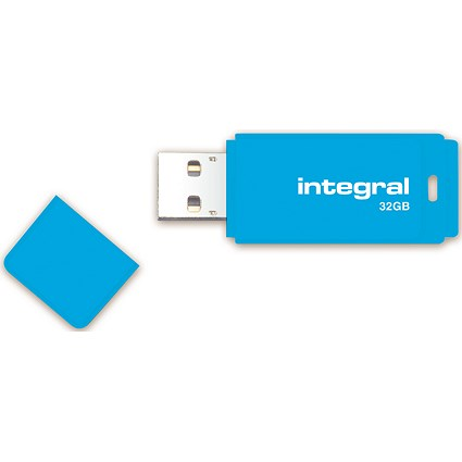 Integral Neon 2.0 USB Drive, 32GB, Blue