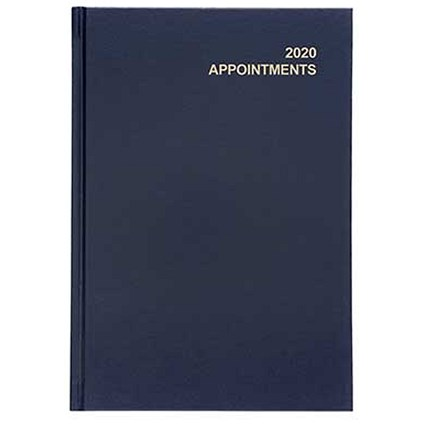 5 Star 2020 Appointment Diary, Day to a Page, A5, Blue