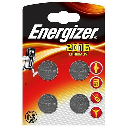 Energizer Lithium Battery CR2016 3V [Pack 4]