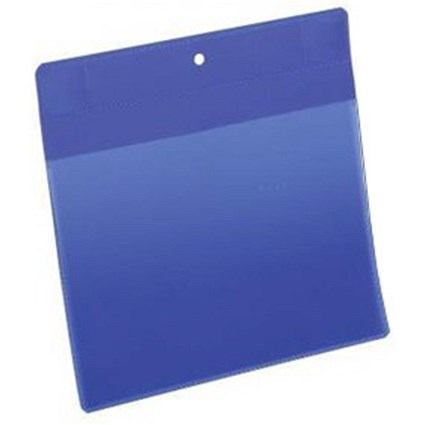 Durable Neodym Magnetic Document Sleeves / A5 / Portrait / Blue / Pack of 10
