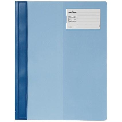 Durable Divisoflex Project Flat File Plastic Capacity 15mm A4 Blue