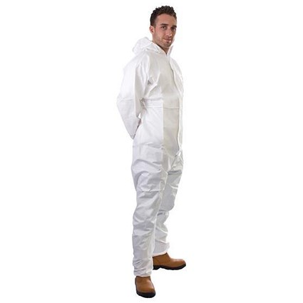 Supertouch Supertex Plus Coverall / 5/6 Protection / Medium / White