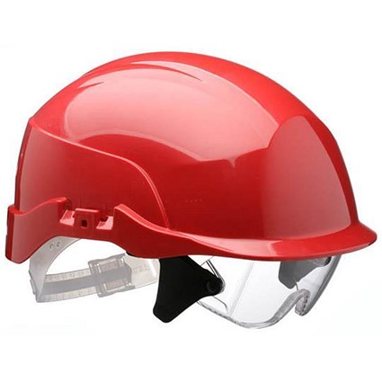 Centurion Spectrum Safety Helmet with Eye Protection - Red