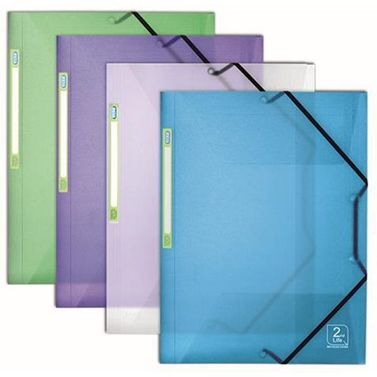 Elba 2nd Life Recycled Sorter / 3-Flap / A4 / Assorted / Pack of 4