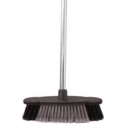 Bentley Soft Bristle Broom Indoor Chrome Handle - length: 1.2m
