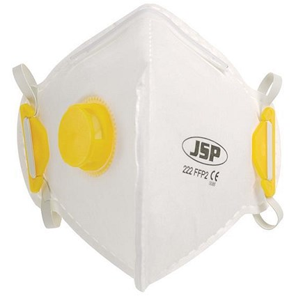 JSP Disposable Valved Mask, Fold-flat, FFP2 Class 2, Pack of 10
