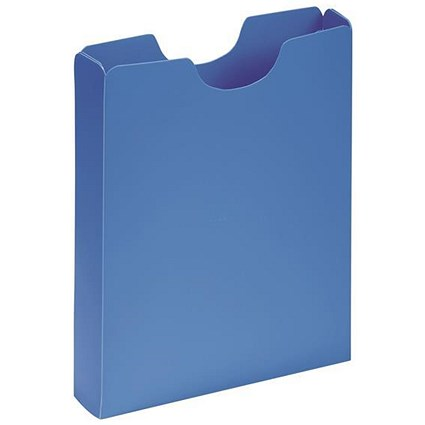 Pagna Plastic Carry Case, 50mm Spine, A4, Blue, Pack of 10
