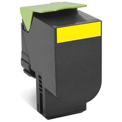 Lexmark 802XY Laser Toner Cartridge Return Programme Extra High Yield Page Life 4000pp Yellow Ref 80C2XY0