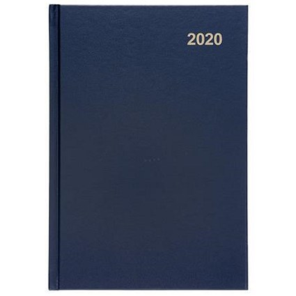 5 Star 2020 Diary, Day to a Page, A5, Blue