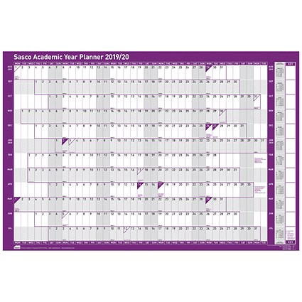 Sasco 2019/20 Academic Year Planner, Mounted, 915x610mm
