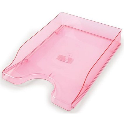 Contemporary Letter Tray / Foolscap / Pink