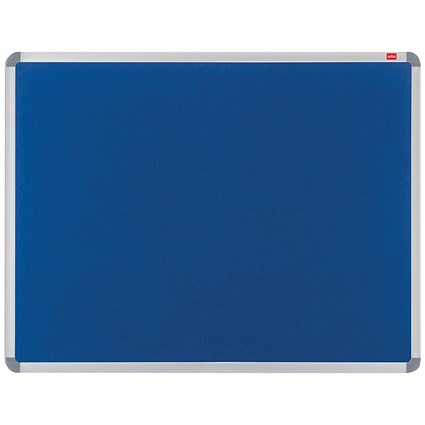 Nobo Euro Plus Noticeboard / Aluminium Trim / W1226xH918mm / Blue