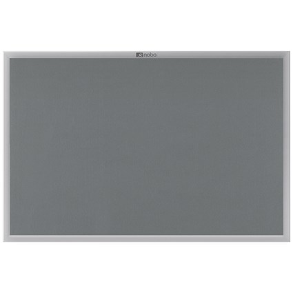 Nobo Euro Plus Noticeboard, Aluminium Trim, W900xH600mm, Grey