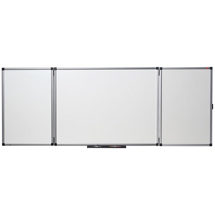 Nobo Confidential Drywipe Board System, Lockable, 3 Boards for 5 Surfaces, W1200xD900mm