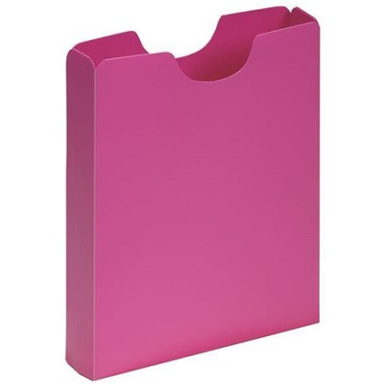 Pagna Plastic Carry Case, 50mm Spine, A4, Pink, Pack of 10