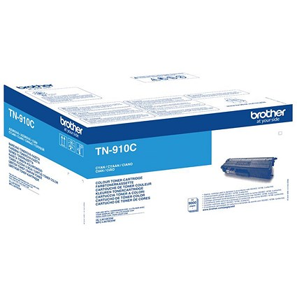 Brother TN910C Laser Toner Cartridge Ultra High Yield Page Life 9000pp Cyan Ref TN910C