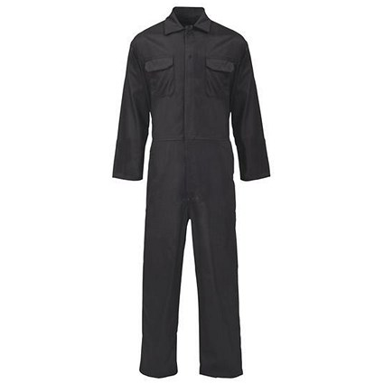Basic Coverall / PolyCotton / Black / Small
