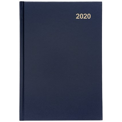 5 Star 2020 Diary, Week to View, A5, Blue