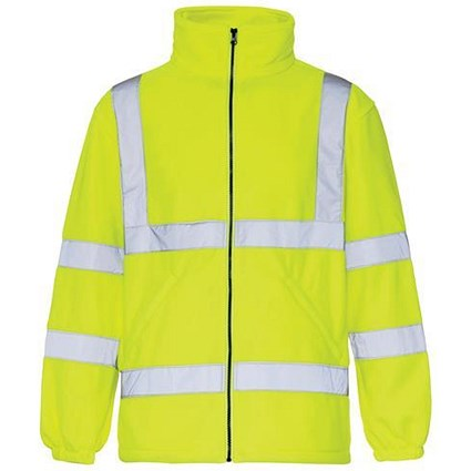 High Visibility Fleece Jacket / Small / Yellow