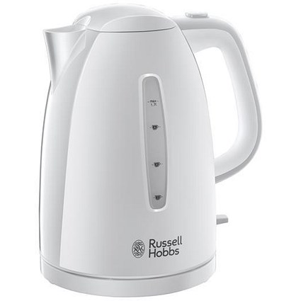 Russell Hobbs 1.7L Kettle / 3000W / Auto-off / Safety Lid / White