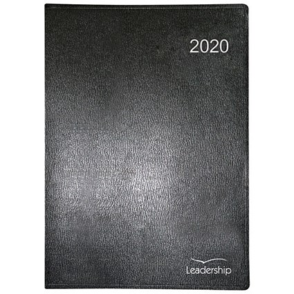 Collins 2020 Leadership Appointment Diary, Week to View, Wirobound, A4, Black