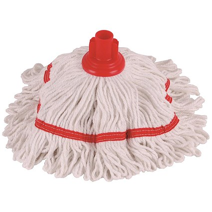 Robert Scott & Sons Hygiemix T1 Socket Colour-coded Mop, Cotton & Synthetic, 250g, Red