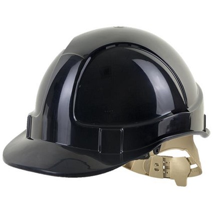 B-Brand Comfort Vented Safety Helmet - Black