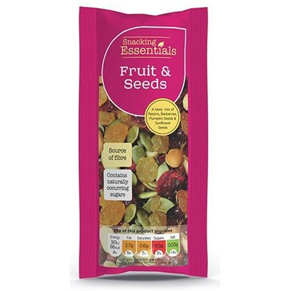 Snacking Essentials Fruit & Seeds / 50g Bags / Pack of 16