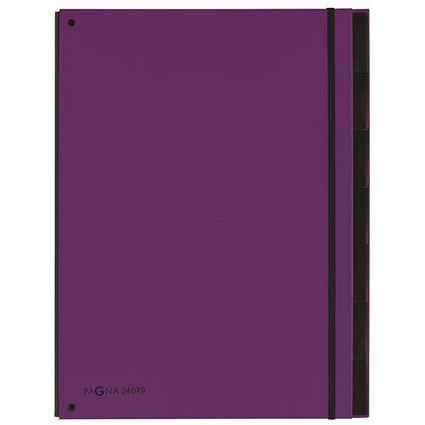 Pagna Master Hardback Organiser / 12-Part / A4 / Purple / Pack of 8