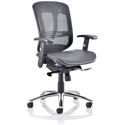 Adroit Mirage II Mesh Executive Chair, Black