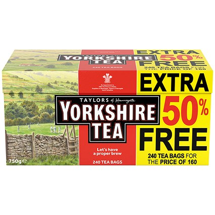 Yorkshire Tea Bags - Pack of 240