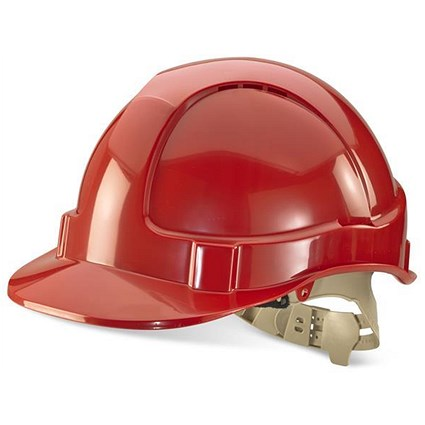 B-Brand Comfort Vented Safety Helmet - Red