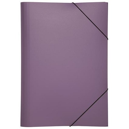 Pagna Elasticated Files / 3-Flap / A4 / Purple / Pack of 10