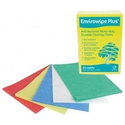 Maxima Envirowipe Plus Cloth / Anti-Bacterial / Yellow / Pack of 25